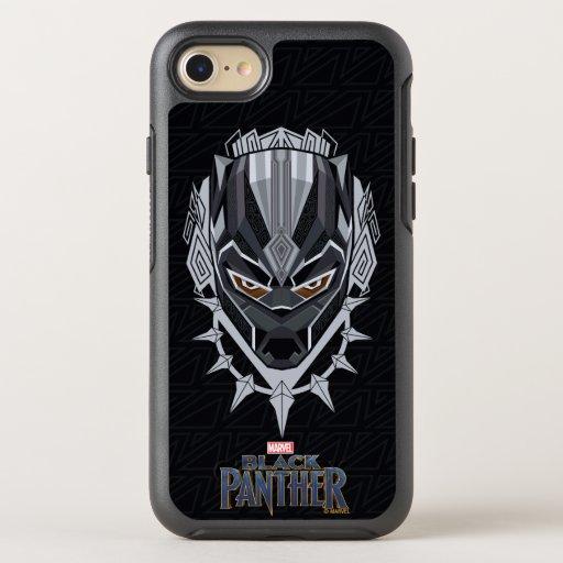 Black Panther | Black Panther Head Emblem OtterBox Symmetry iPhone 8/7 Case