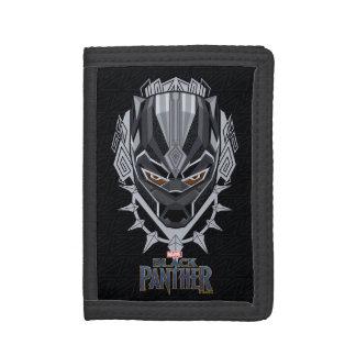 Black Panther   Black Panther Head Emblem Trifold Wallet