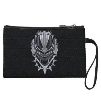 Black Panther   Black Panther Head Emblem Wristlet