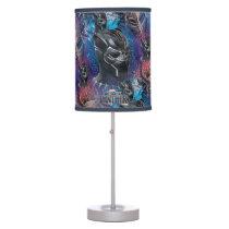 Black Panther | Black Panther & Mask Pattern Desk Lamp