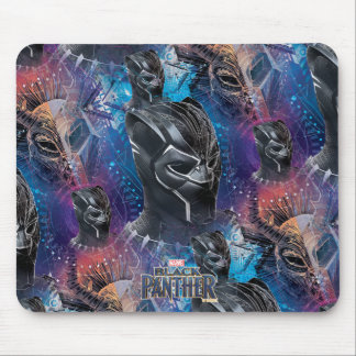 Black Panther | Black Panther & Mask Pattern Mouse Pad