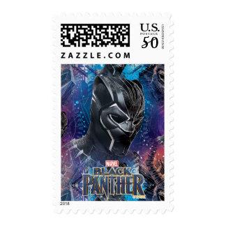 Black Panther | Black Panther & Mask Pattern Postage
