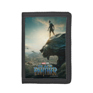 Black Panther | Black Panther Standing Atop Lair Trifold Wallet