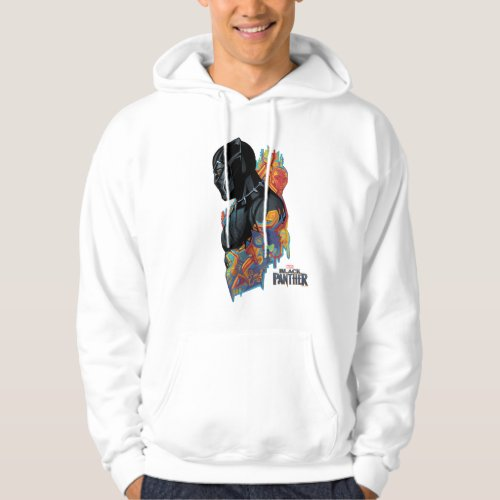 Black Panther  Black Panther Tribal Graffiti Hoodie