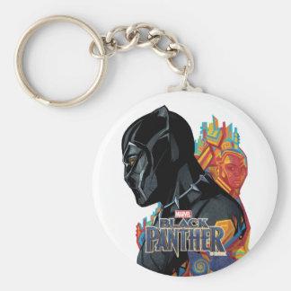 Black Panther | Black Panther Tribal Graffiti Keychain