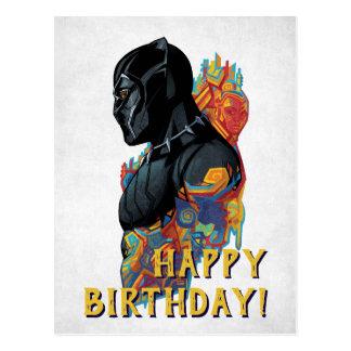 Black Panther | Black Panther Tribal Graffiti Postcard