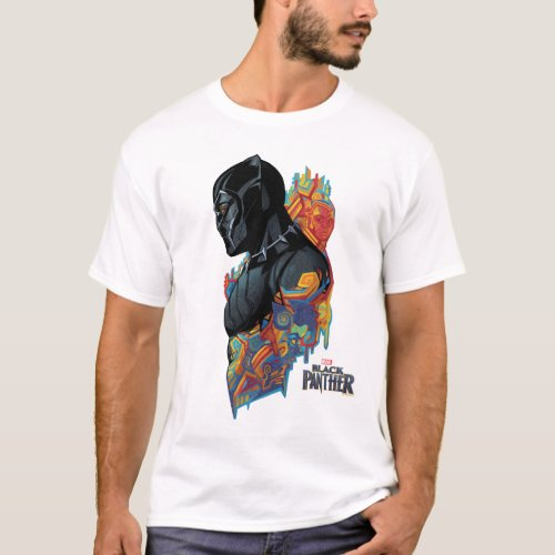 Black Panther  Black Panther Tribal Graffiti T_Shirt