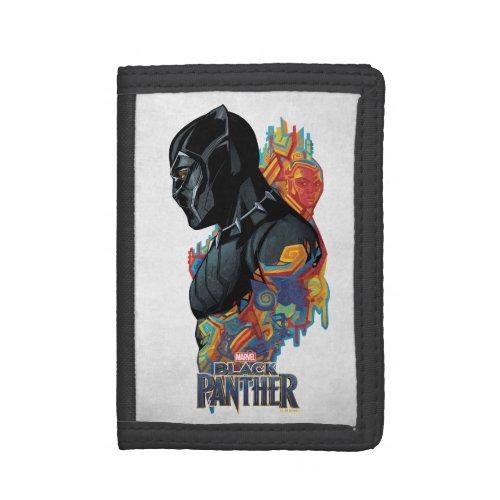 Black Panther  Black Panther Tribal Graffiti Tri_fold Wallet
