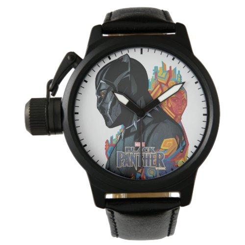 Black Panther  Black Panther Tribal Graffiti Wristwatch