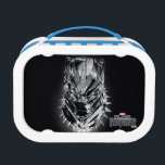 """Black Panther   Black &amp; White Head Sketch Lunch Box<br><div class=""""desc"""">Check out this black and white comic book style sketch of Black Panther&#39;s head.</div>"""