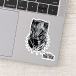 Black Panther | Black & White Head Sketch Sticker
