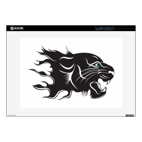 "Black Panther Blue Eyes 15"" Laptop Decal"