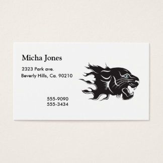 Black Panther Blue Eyes Business Card