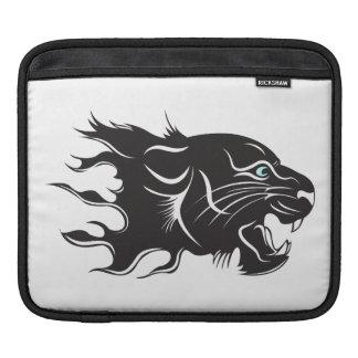 Black Panther Blue Eyes iPad Sleeve
