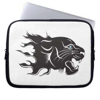 Black Panther Blue Eyes Laptop Sleeve