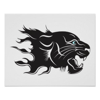 Black Panther Blue Eyes Poster