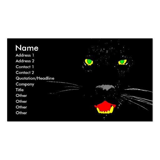 Black Panther Business, Profile Card
