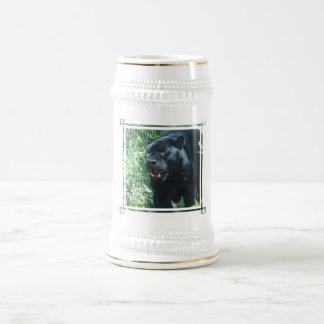 Black Panther Cat  Beer Stein 18 Oz Beer Stein