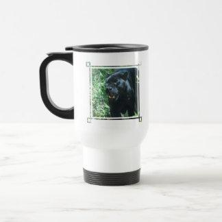 Black Panther Cat Plastic Travel Mug