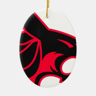 Black Panther Ceramic Ornament
