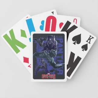 Black Panther Character Collage Bicycle Playing Cards