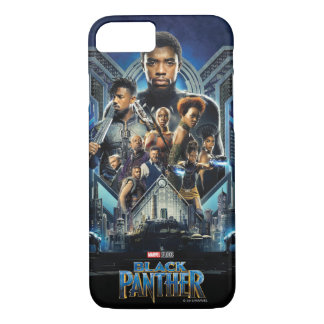 Black Panther   Characters Over Wakanda iPhone 8/7 Case