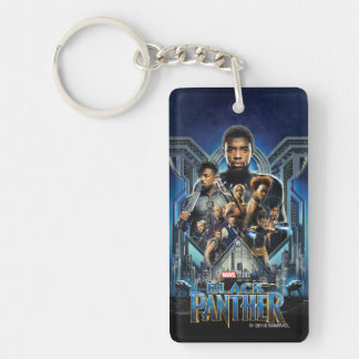 Black Panther   Characters Over Wakanda Keychain