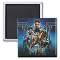 Black Panther | Characters Over Wakanda Magnet