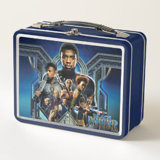Black Panther | Characters Over Wakanda Metal Lunch Box