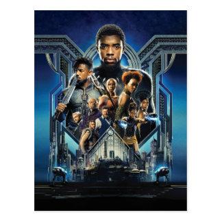 Black Panther | Characters Over Wakanda Postcard