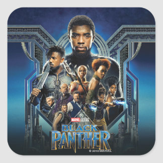 Black Panther | Characters Over Wakanda Square Sticker