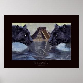 BLACK PANTHER & CHICHEN ITZA Art Poster