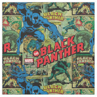 Black Panther Comic Book Pattern Fabric