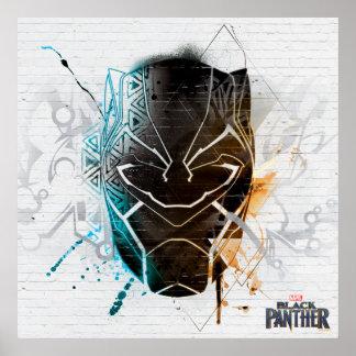 Black Panther | Dual Panthers Street Art Poster