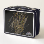 """Black Panther   Erik Killmonger Claw Marks Metal Lunch Box<br><div class=""""desc"""">Claw marks cut away to reveal Erik Killmonger in his black and gold panther suit.</div>"""