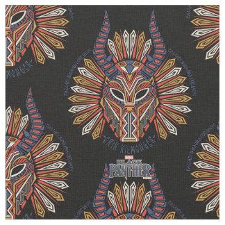 Black Panther   Erik Killmonger Tribal Mask Icon Fabric