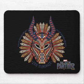 Black Panther | Erik Killmonger Tribal Mask Icon Mouse Pad