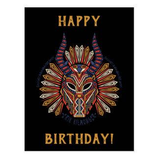 Black Panther | Erik Killmonger Tribal Mask Icon Postcard