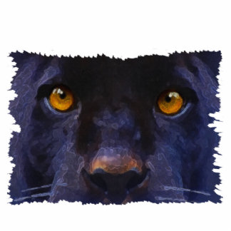 BLACK PANTHER EYES sculpted Wildlife Gift Photo Cut Outs