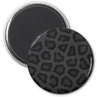 Black Panther Fur Print Refrigerator Magnet