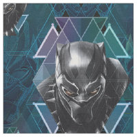 Black Panther | Geometric Character Pattern Fabric