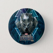 Black Panther | Geometric Character Pattern Pinback Button