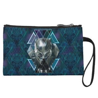 Black Panther   Geometric Character Pattern Wristlet Wallet