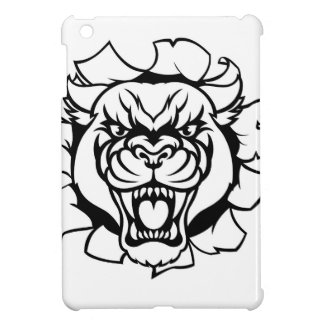 Black Panther Golf Mascot Breaking Background Case For The iPad Mini