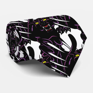 Black Panther Head Claws Sports Football Necktie