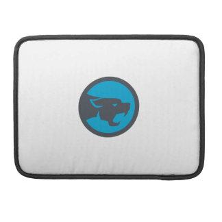 Black Panther Head Growling Circle Retro MacBook Pro Sleeve