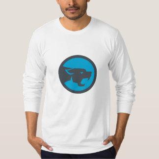 Black Panther Head Growling Circle Retro T-Shirt
