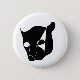black panther head pinback button