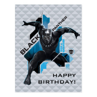 Black Panther | High-Tech Character Graphic Postcard