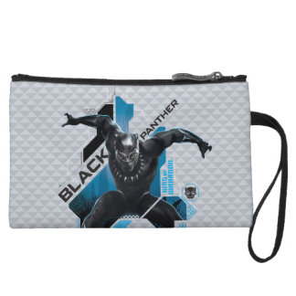 Black Panther   High-Tech Character Graphic Wristlet Wallet